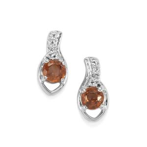Capricorn Zircon Earrings with White Topaz in Sterling Silver 0.90ct