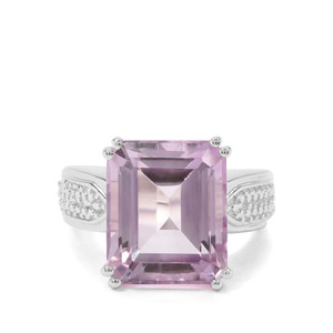 11ct Rose De France Amethyst Sterling Silver Ring