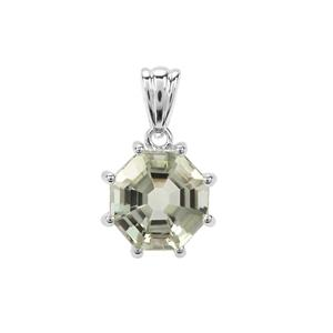 Prasiolite Pendant in Sterling Silver 6.63cts