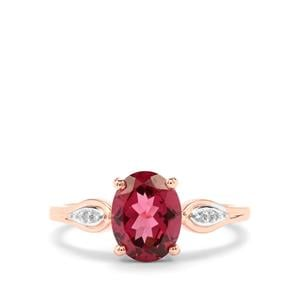 Umbalite & Diamond 10K Rose Gold Ring ATGW 2.06cts