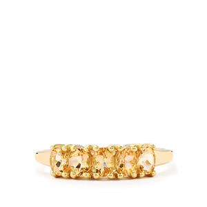 1.02ct Imperial Topaz 9K Gold Ring