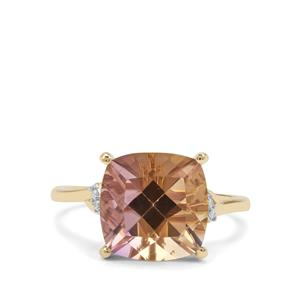Anahi Ametrine Ring with Diamond in 9K Gold 4.94cts