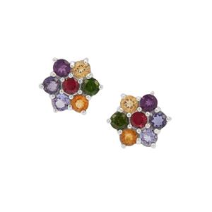 Kaleidoscope Gemstone Earrings in Sterling Silver 1.69cts