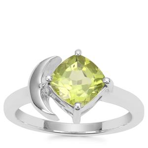 Changbai Peridot Ring in Sterling Silver 1.68cts