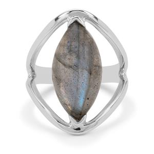 Paul Island Labradorite Ring in Sterling Silver 8cts