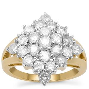Diamond Ring in 9K Gold 1.9cts
