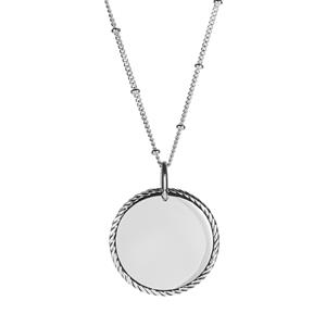 """16/18"""" Sterling Silver Altro Twisted Edge Disk Necklace 9.59g"""
