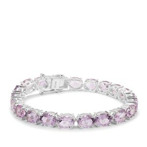 Rose De France Amethyst Bracelet in Sterling Silver 39.06cts