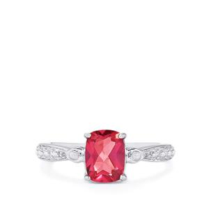 1.64ct Mystic Pink Topaz Sterling Silver Ring
