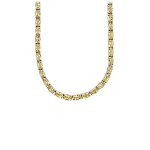 Bolivian Natural Champagne Quartz Necklace in Sterling Silver 28.31cts