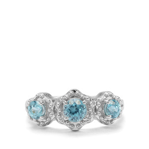 1.69ct Ratanakiri Blue Zircon Sterling Silver Ring