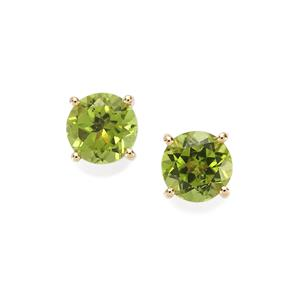 Changbai Peridot Earrings in 10K Gold 3.20cts