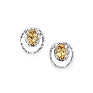 Champagne Danburite Earrings in Sterling Silver 1.59cts