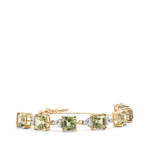 Csarite® Bracelet with Diamond in 18K Gold 16.03cts
