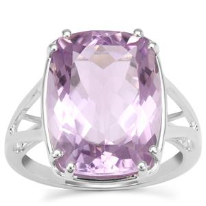 Rose De France Amethyst Ring in Sterling Silver 9.76cts