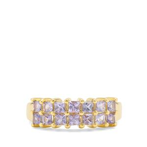 Tanzanite Ring in Gold Plated Sterling Silver 1.26cts