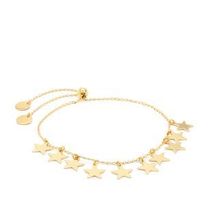 "10"" Midas Altro Diamond Cut Star Slider Bracelet 3.04g"