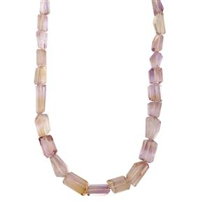 Ametrine Tumbled Necklace  in Sterling Silver 169cts