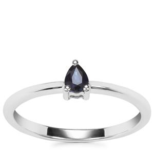 Australian Blue Sapphire Ring in Sterling Silver 0.23cts