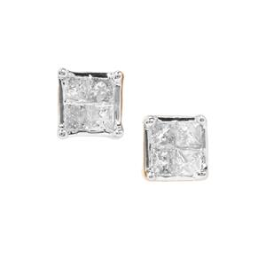 1/8ct Diamond 9K Gold Earrings
