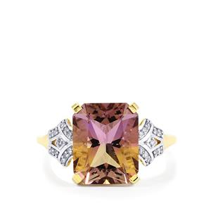 Anahi Ametrine Ring with Diamond in 9K Gold 4.28cts