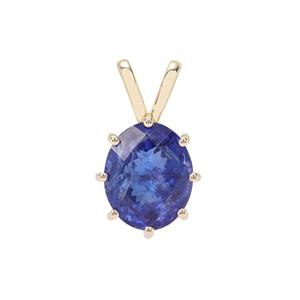 AAA 'Estate' Tanzanite Pendant in 9K Gold 6.03cts