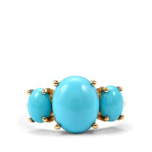 Sleeping Beauty Turquoise Ring in 10K Gold 3.87cts