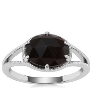 Black Onyx Ring in Sterling Silver 1.88cts