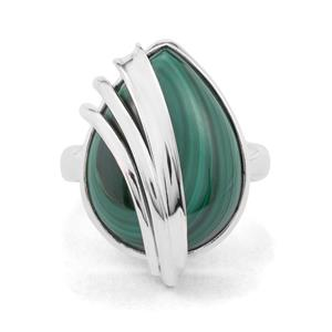19ct Malachite Sterling Silver Aryonna Ring