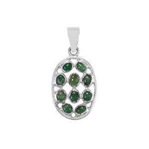 Itabira Emerald Pendant in Sterling Silver 1.53cts