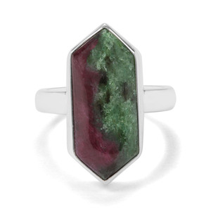 11.05ct Ruby-Zoisite Sterling Silver Aryonna Ring