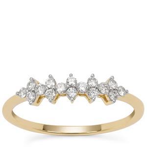Diamond Ring in 9K Gold 0.30ct