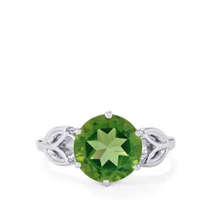 3.28ct Fern Green Quartz Sterling Silver Ring