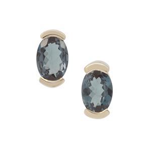 Colour Change Garnet Earrings in 9K Gold 0.95ct
