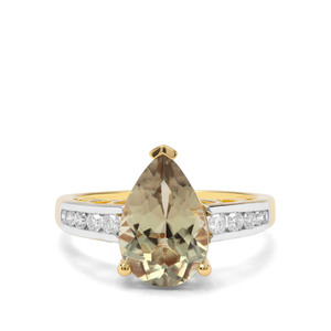 Csarite® & Diamond 18K Gold Ring MTGW 3.25cts