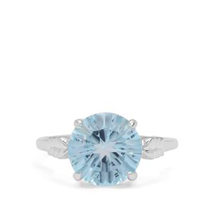 4.79ct Amami Cut Sky Blue Topaz Sterling Silver Ring