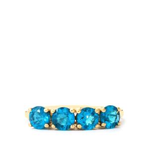 Neon Apatite Ring in 9K Gold 1.48cts