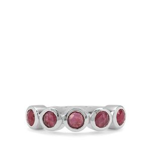 Rose Cut Malagasy Ruby Ring in Sterling Silver 1.60cts