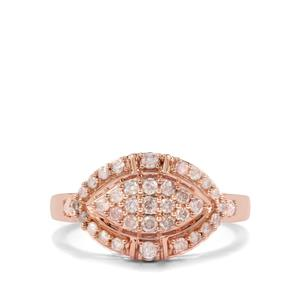 Pink Diamond Ring in 9K Rose Gold 0.50ct