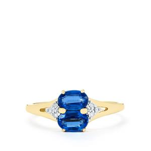 Daha Kyanite & Diamond 9K Gold Ring ATGW 1.42cts