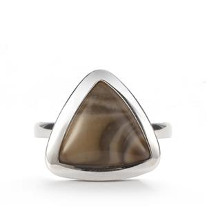 2.95ct Cappuccino Flint Sterling Silver Ring