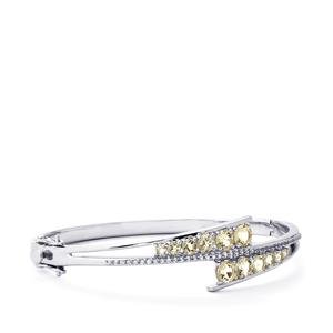 Serenite Bangle with White Topaz in Sterling Silver 3.13cts