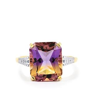 Anahi Ametrine Ring with Diamond in 9K Gold 5.42cts