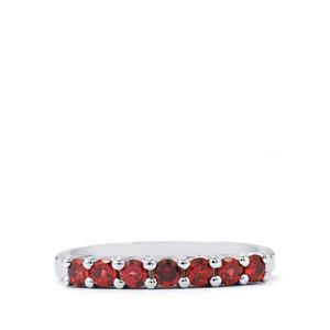 0.66ct Rajasthan Garnet Sterling Silver Ring