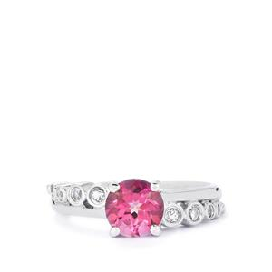 1.76ct Mystic Pink & White Topaz Sterling Silver Ring