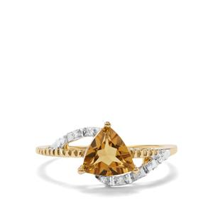 Mansa Beryl & Diamond 9K Gold Ring ATGW 0.96cts