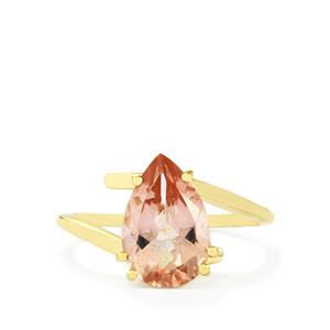 Galileia Topaz Ring in 10K Gold 3.42cts