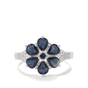 2.24ct Australian & Madagascan Blue Sapphire Sterling Silver Ring