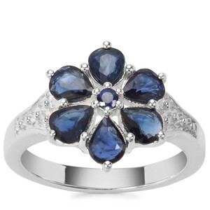 Australian Blue Sapphire Ring with Madagascan Blue Sapphire in Sterling Silver 2.24cts