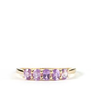 Natural Purple Sapphire Ring in 10k Gold 1.04cts